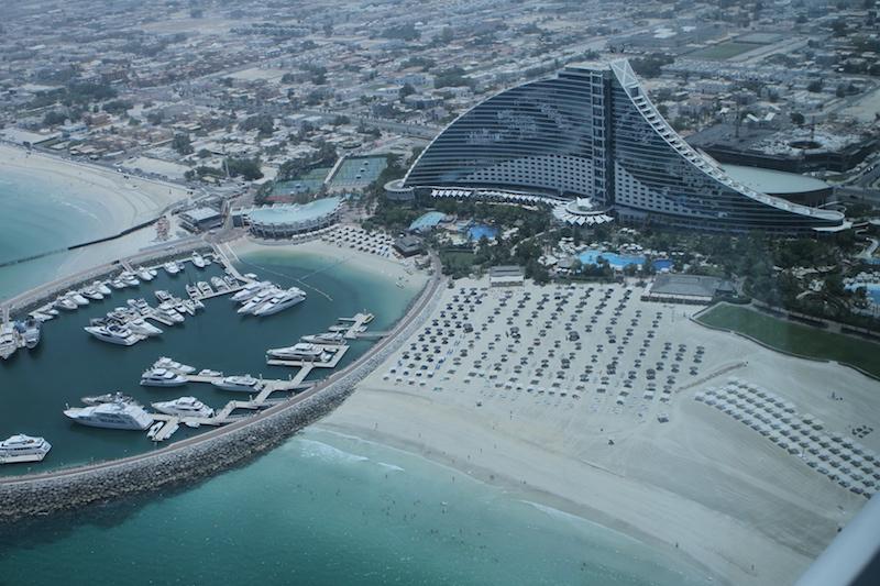 Vista do hotel para a Jumeirah Beach