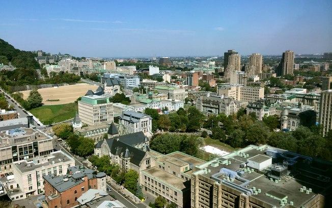 Vista da Universidade McGill