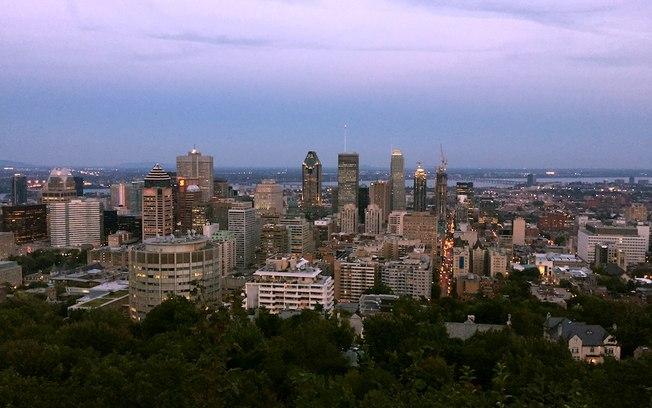 Vista de Montreal do Parc Mont Royal
