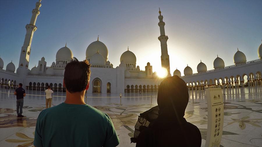 Nós observando a mesquita