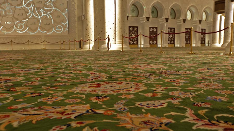 O maior carpete do mundo todo feito a mão