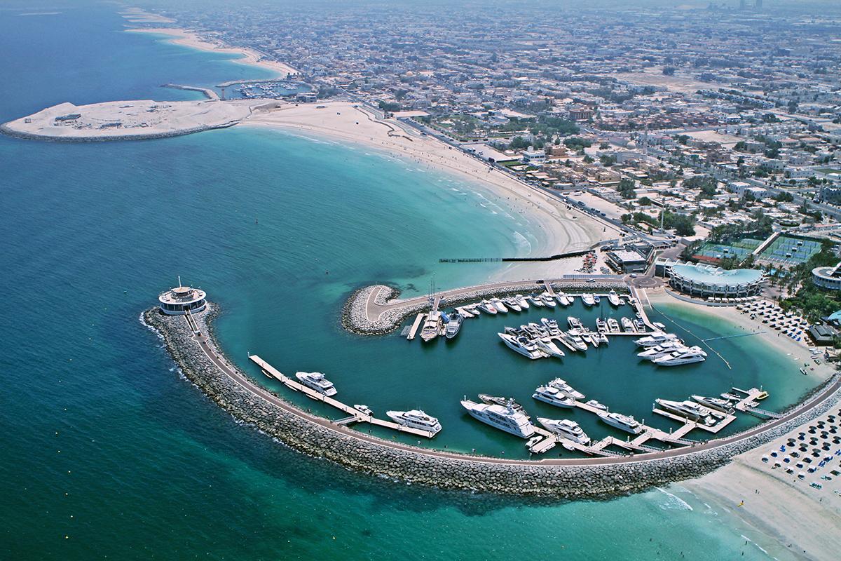 Jumeirah Beach vista do Hotel Burj Al Arab
