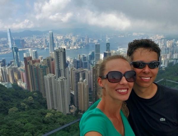 Nossa chegada em Hong Kong
