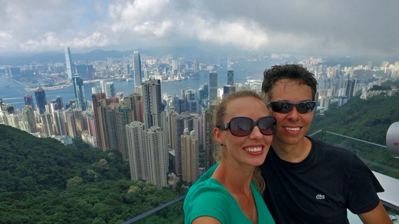 Nós no cartão postal de Hong Kong