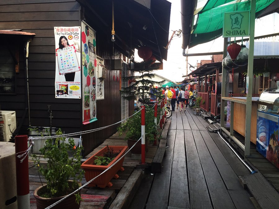 Penang Malasia - Chew Jetty Cidade Flutuante Corredor principal