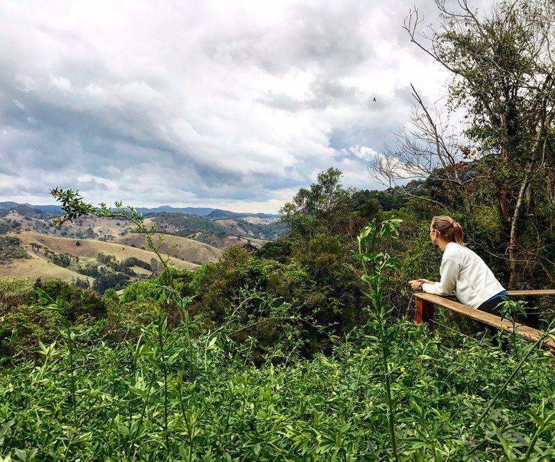 Santo Antônio do Pinhal - Gisella admirando o verde