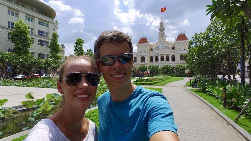 Gisella e Fernando - Ho chi Mihn prefeitura