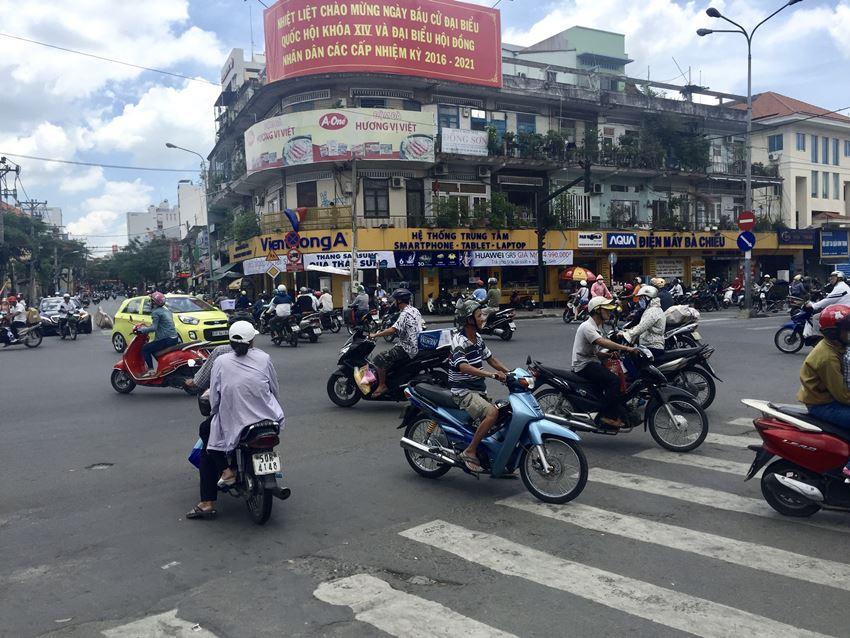 Trânsito de motos em Ho Chi Minh